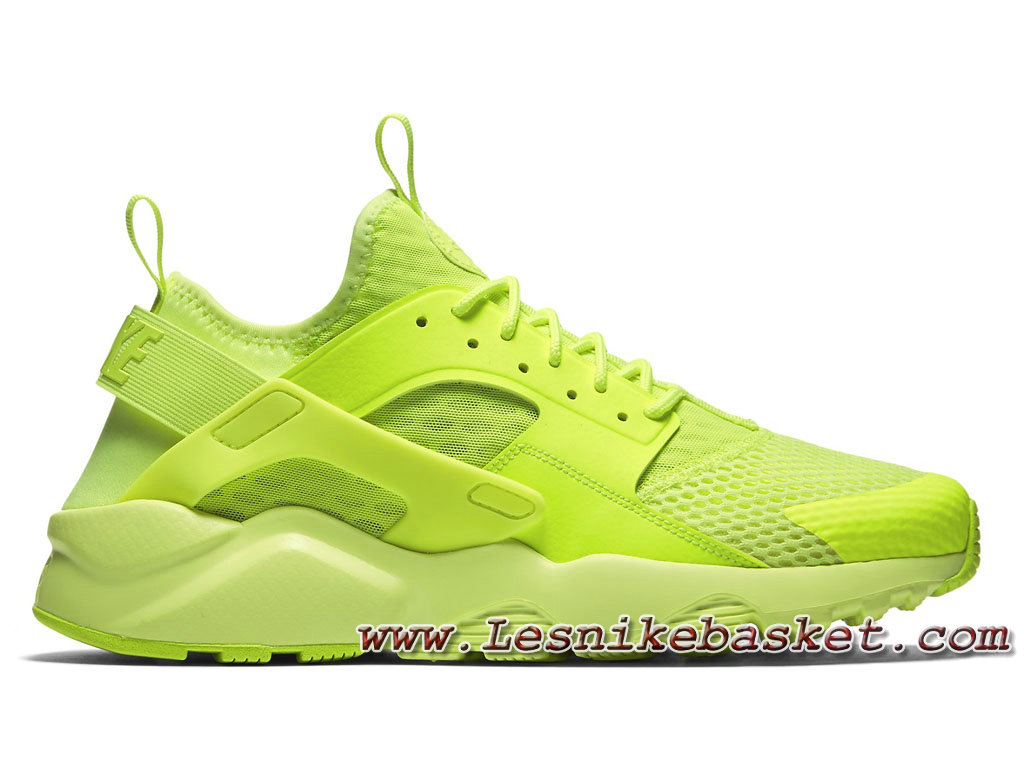 new product 67fae d92c6 Homme Nike Air Huarache Ultra Breathe Volt 833147 700 Running Nike Urh Pas  cher ...