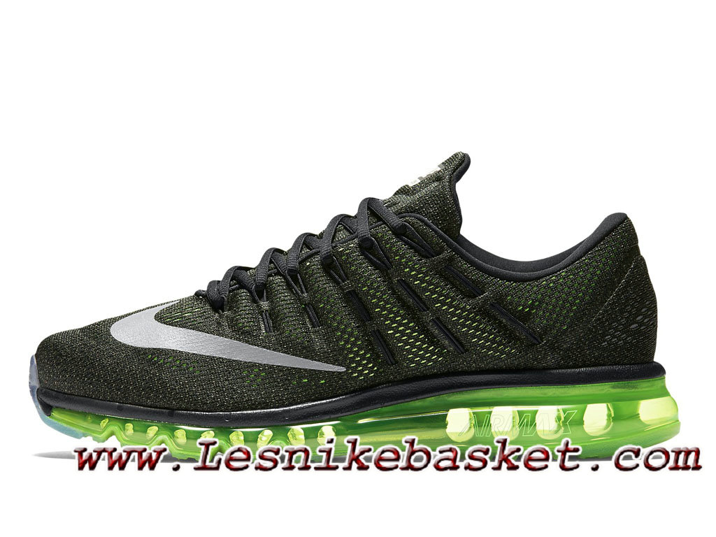 ddc7455b5ec73 Homme Running Nike Air Max 2016 Running Shoe Black Voltage Green  806771 013-1702142782 - Les Nike Sneaker Officiel site En France