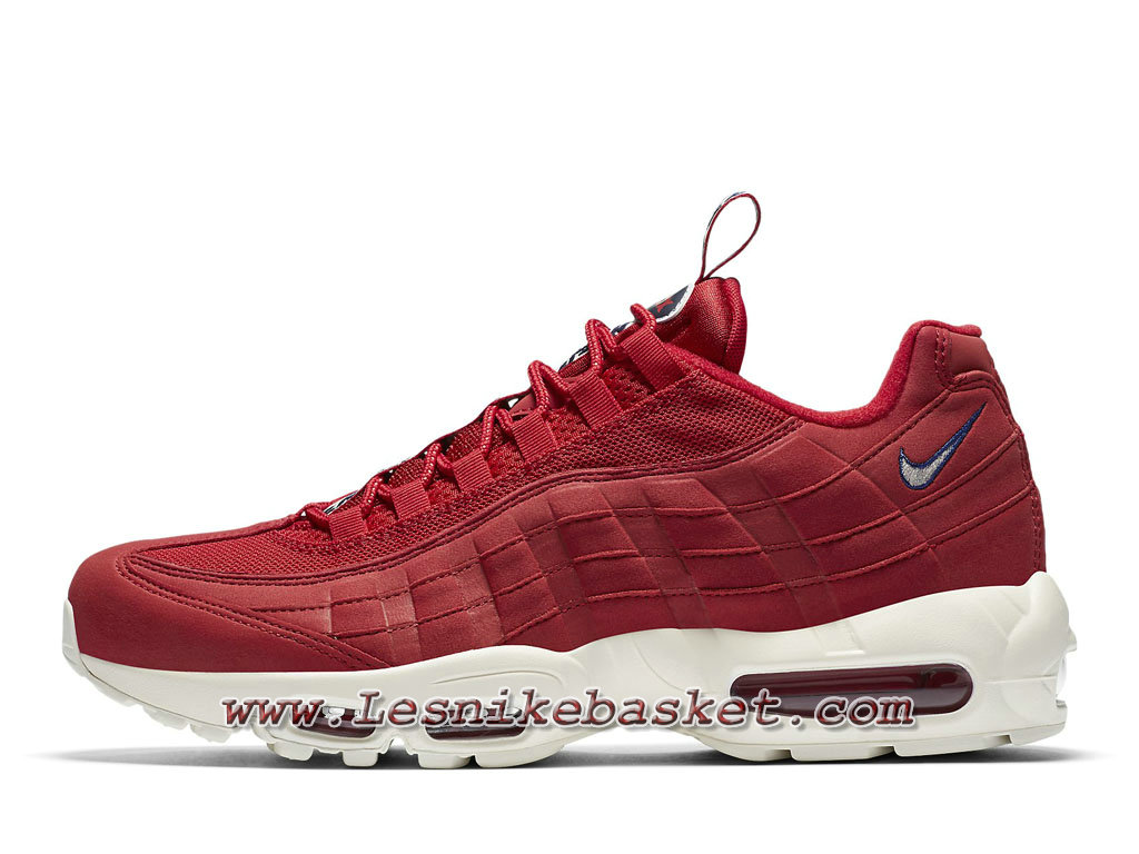 on sale e8f82 ef5c6 Nike Air Max 95 TT Gym Red AJ1844 600 Chaussures Nike 2018 Pour Homme Rouge  ...