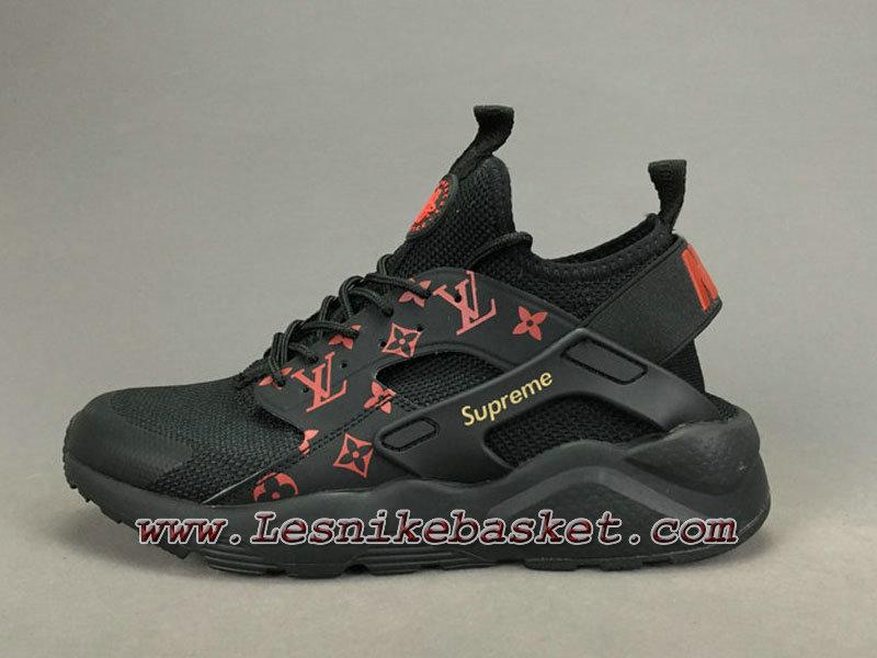 free shipping f0ac5 860cd Running LV Supreme Nike air Huarache Ultra Noires Orange Chaussures Urh Nike  Spureme Pirx Pour ...