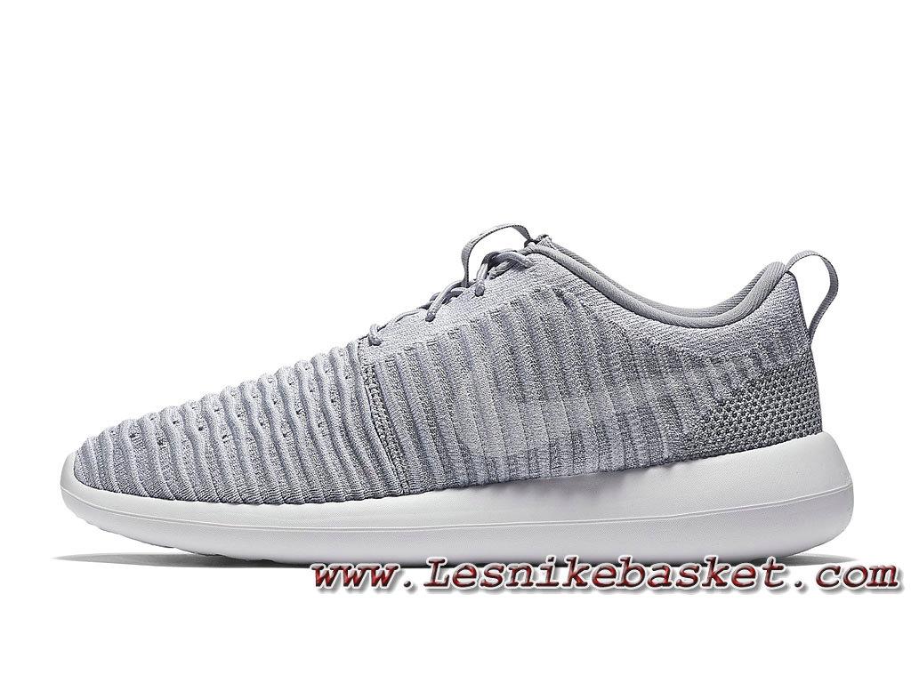 Running Nike Roshe Two Flyknit GrisBlanc 844833_008