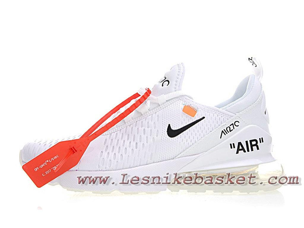 White Off X Nike Air Max 270 White Bule AH8050_100 Chaussurse Nike 2018 Pour Homme Blanc-1803293717 - Les Nike Sneaker Officiel site En France